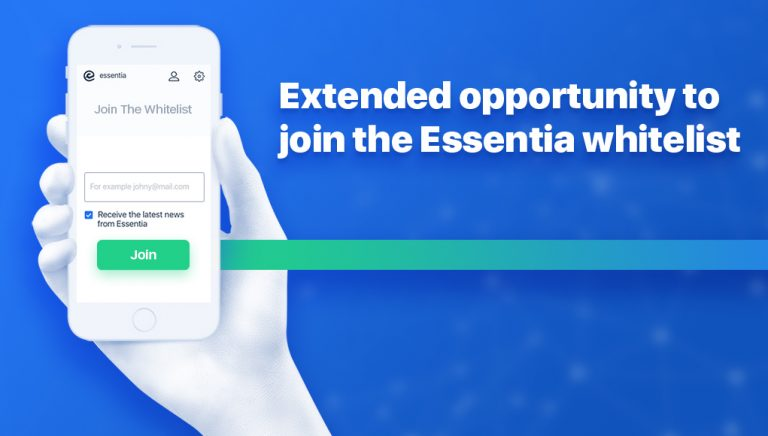 PR: Essentia Re-Opens Whitelist for 2000 Additional Applications
