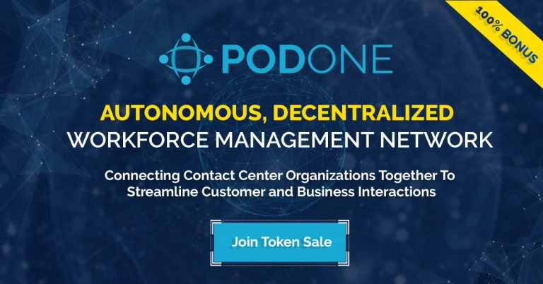 PR: PodOne, the Uber of In-House and Remote Contact Center Agents, Files US Patent and Launches Pre-ICO Campaign