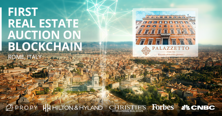 PR: Propy to Hold Real Estate Auction on Blockchain