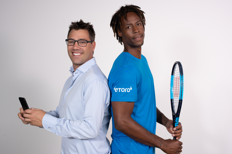 PR: Monfils Sponsorship with eToro