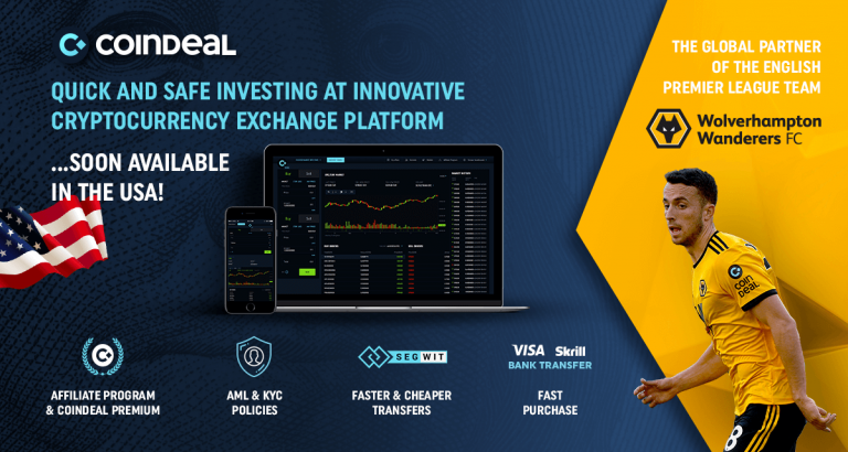 PR: CoinDeal – Premier League Sponsor Ready for New Challenges in US Market