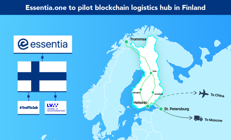 PR: Finland Government and Essentia.One Reveal Plans for International Blockchain Logistics Hub