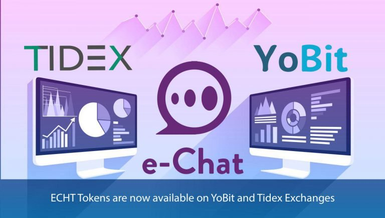 PR: Decentralized Messenger ECHT Tokens Listed on YoBit and Tidex Exchanges
