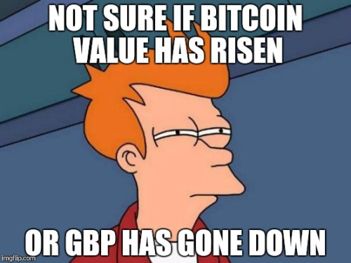 #Bitcoin user in the #UK whose wallet shows value in GBP.