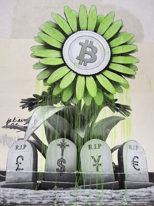 coloursxart:R.I.P Banking System by Ludo - Located in Paris,...